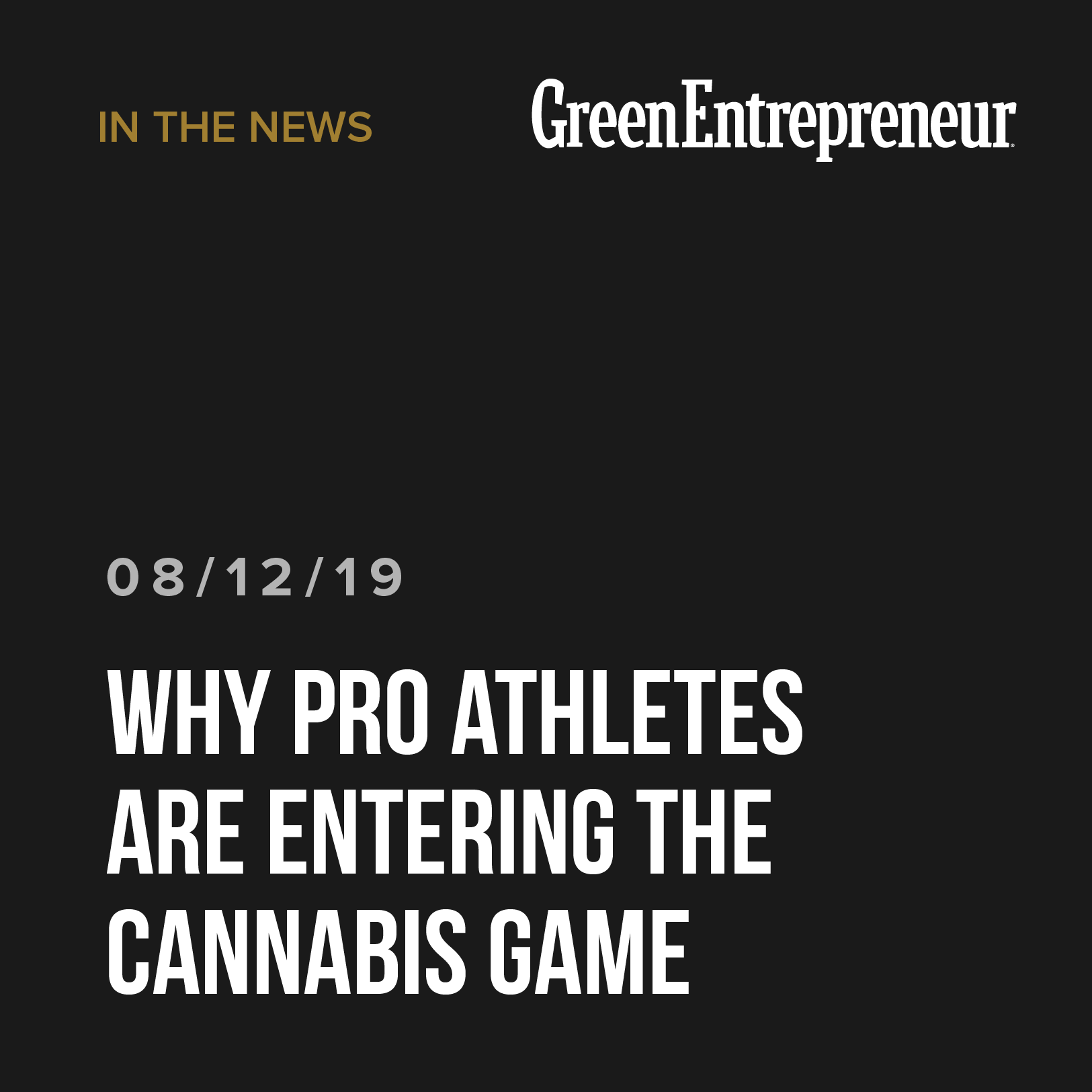Why Pro Athletes Are Entering the Cannabis Game