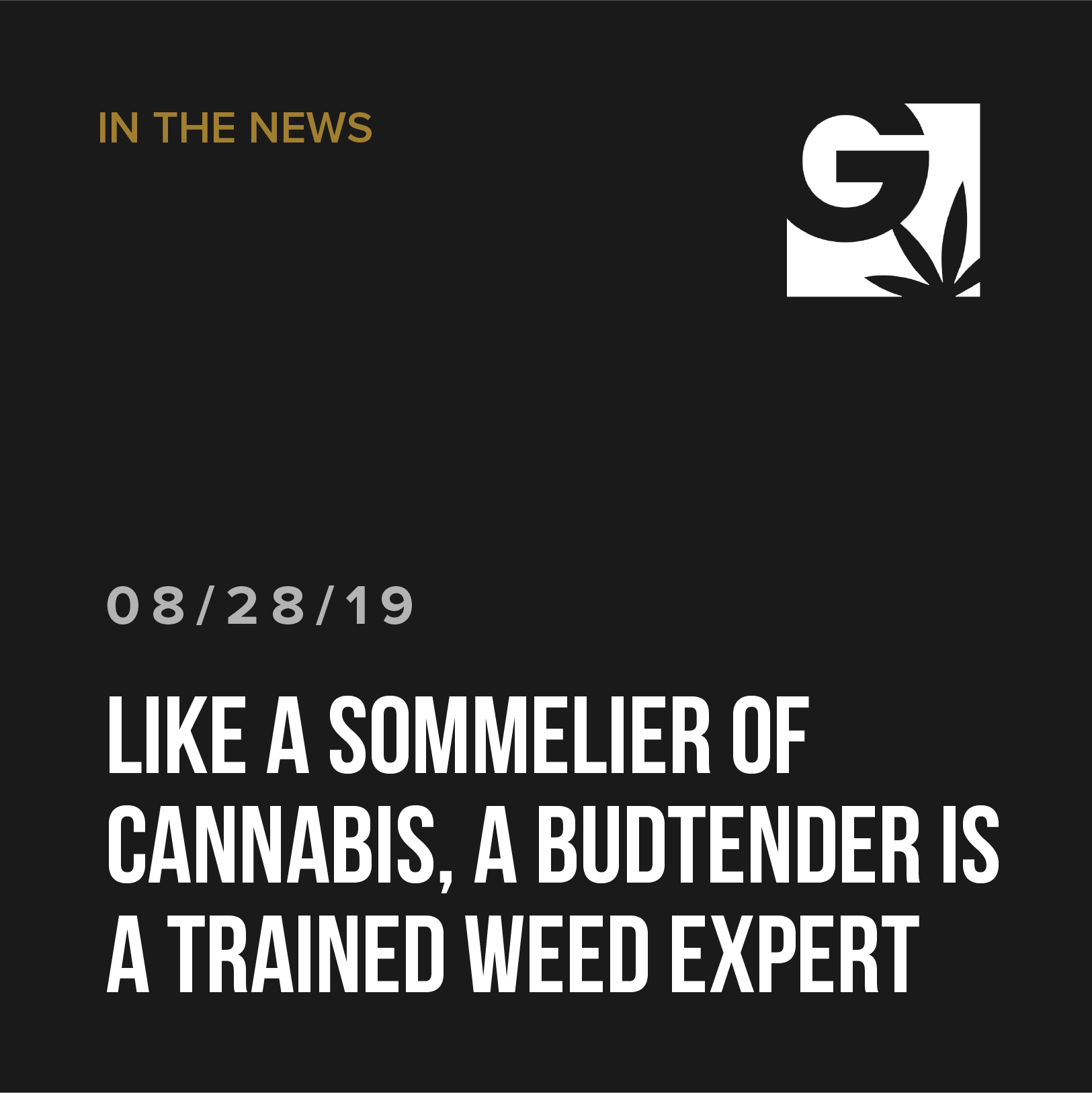 Like a sommelier of cannabis, a budtender is a trained weed expert