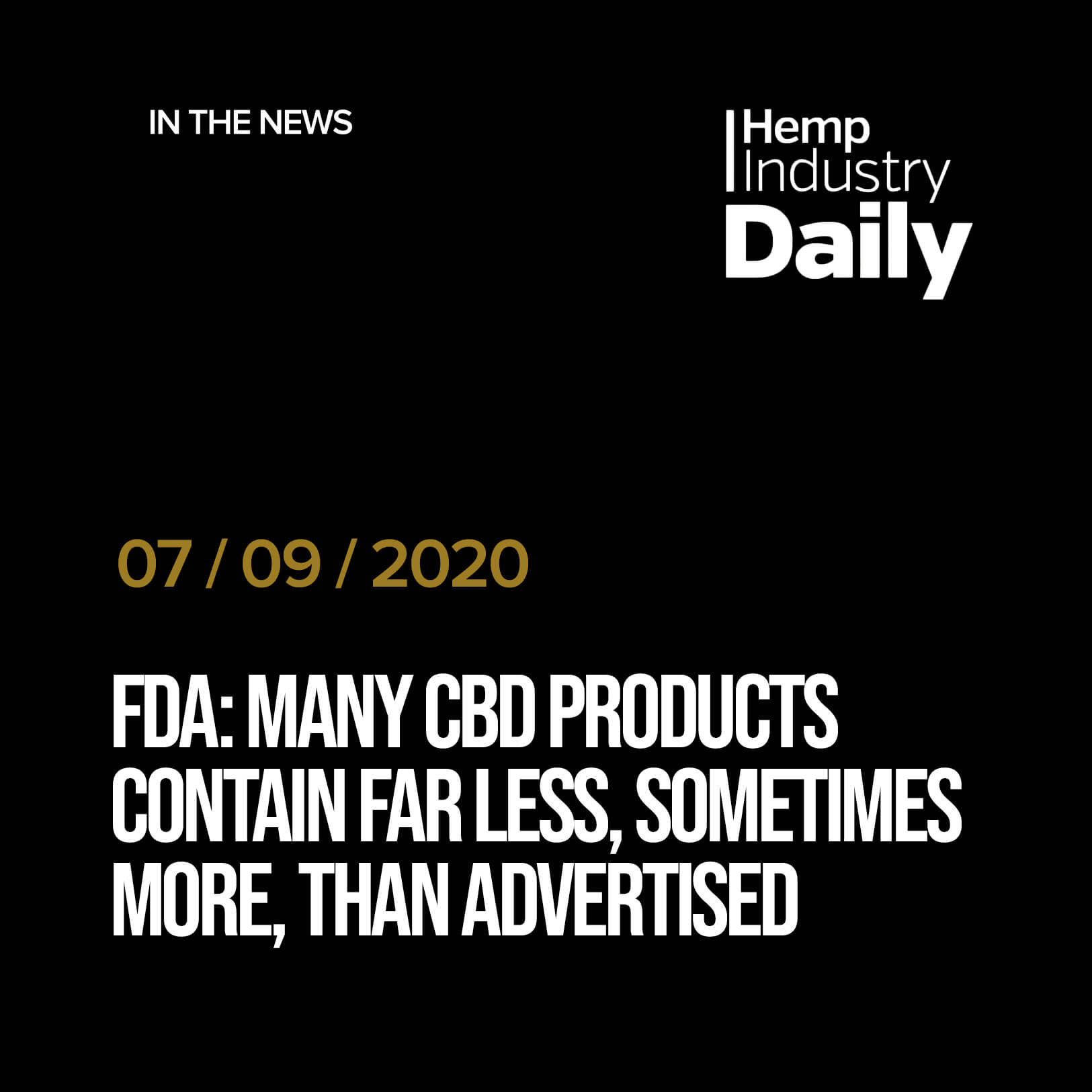 FDA: Many CBD products contain far less, sometimes more, than advertised