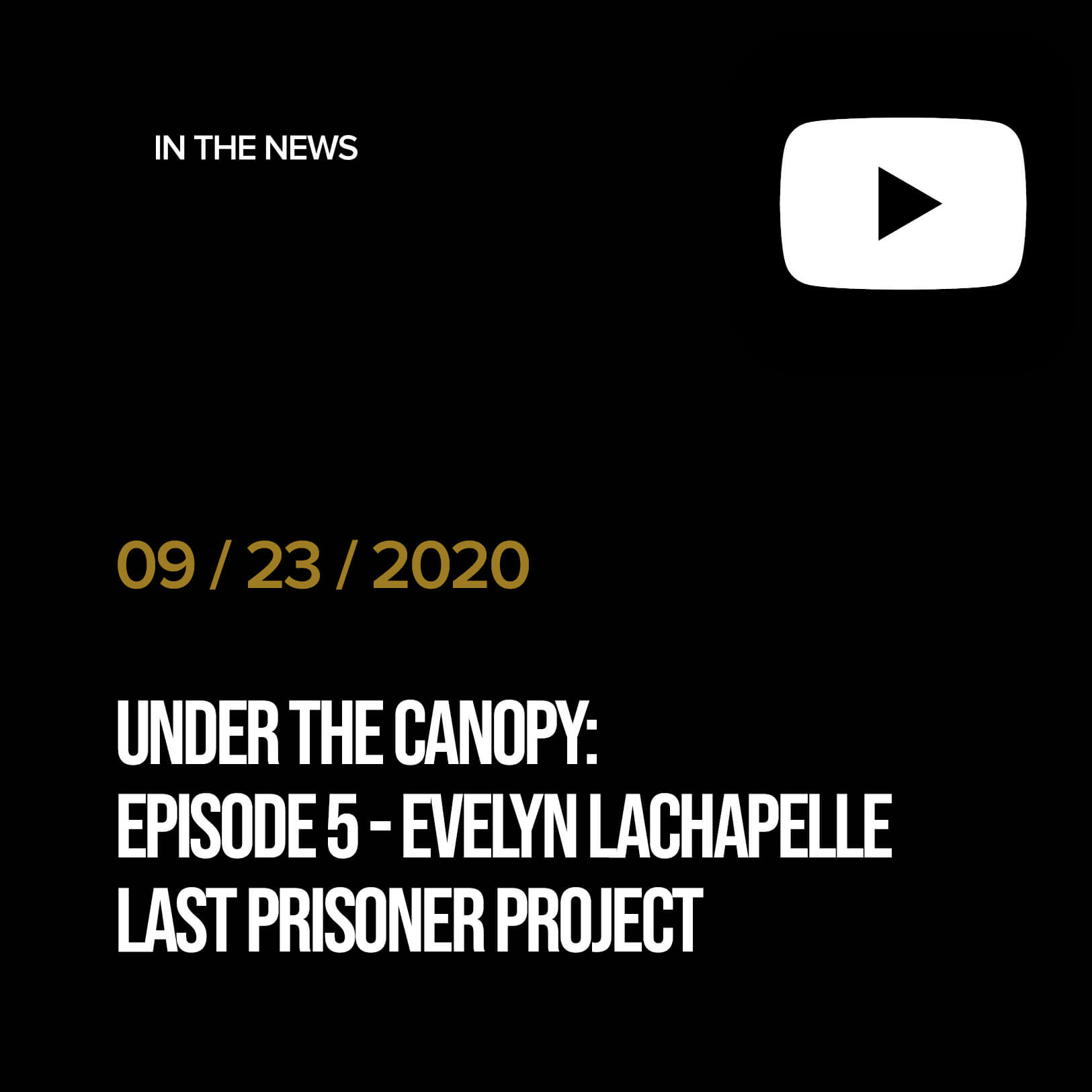 Under The Canopy: Episode 5 - Evelyn LaChapelle, Last Prisoner Project