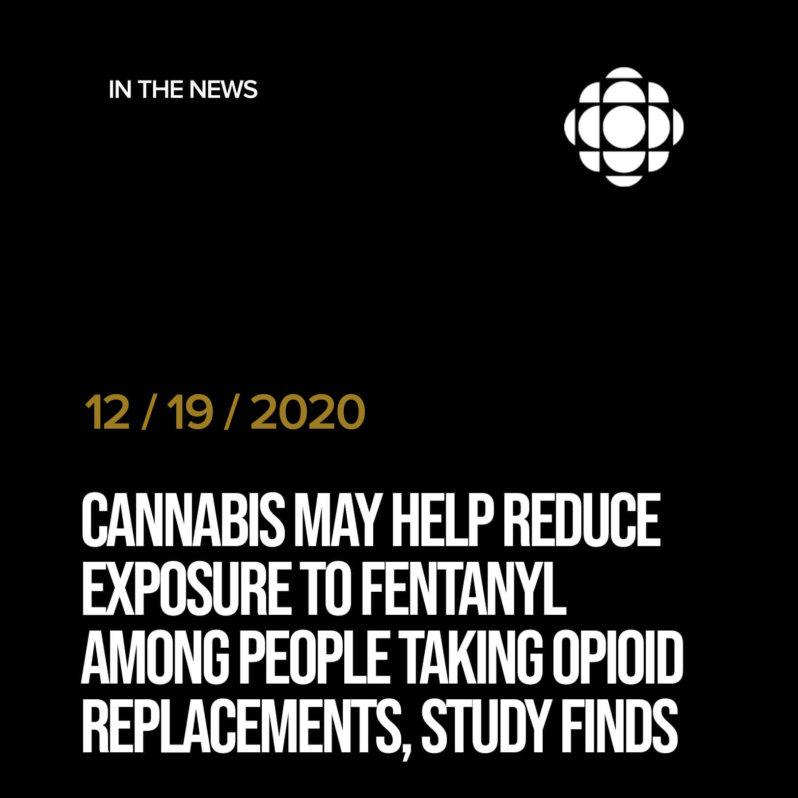 Cannabis may help reduce exposure to fentanyl among people taking opioid replacements, study finds